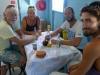 Lunch med Bill och alice från S/Y Sparrow på restaurang med bara ett bord