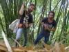 Svett i bambudjungel