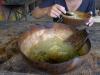 Ital soup, serverad i kalabash med kokossked