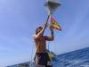 Hissar vänskapsflagg för Grenada
