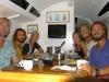 Middag med Mare Liberum och Odessa hos Tass. Från vänster: Mark, Andrej, Maria, Bella, Calle, Lukas. Bella tog hand om Barracudan och gjorde den till supergod fiskcurry.