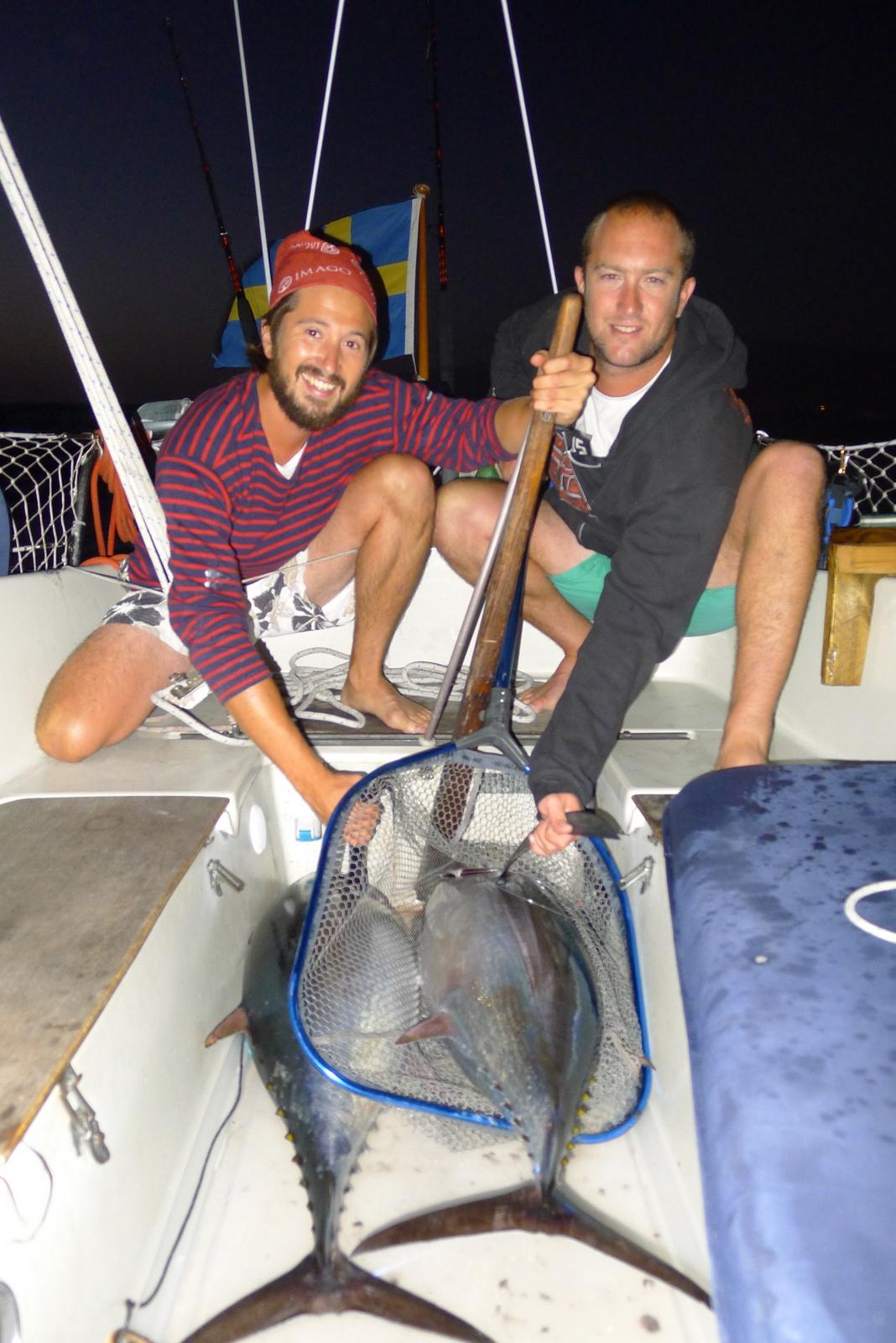 Två tonfiskar på 20 kg!